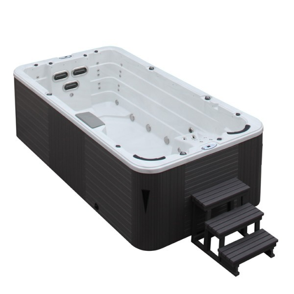 Aussenwhirlpool SWIM SPA Como 4.5 SterlingSilver 450 x 230 x 135 grau