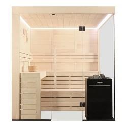 Sauna E1205 Pappelholz mit Vitra, Sauna kaufen