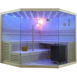 finnische Sauna E1101 und Bio-Sauna B1101 Pappelholz